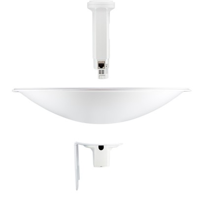 Ubiquiti PBE-M5-400 (PowerBeam M5-400) airMAX Dish Reflector 25dBi 400mm, Freq 5GHz 150+Mbps, Hi-Power 26dBm, 1-Port 10/100/1000 Ethernet