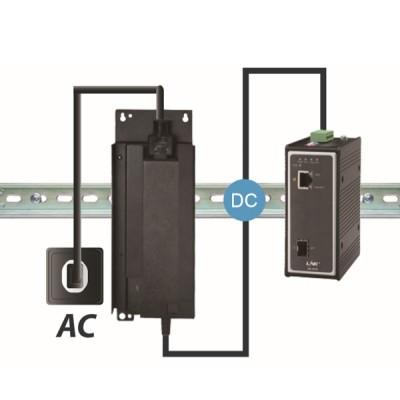 Link PS-1010 Industrial PoE+ Switch, 1-Port 10/100/1000Base-T PoE/PoE+ and 1-Port Gigabit SFP