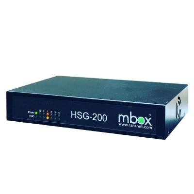 RansNet HSG-200 mbox HotSpot Gateway, 800 Concurrent Users, 4GB RAM, 4-Port Gigabit Interface
