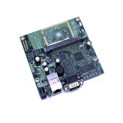 RB411AH : Atheros AR7161 680MHz Network CPU (overclock to 800MHz), 64MB DDR RAM, 1 LAN, 1 miniPCI, 64MB NAND, RouterOS Level 4