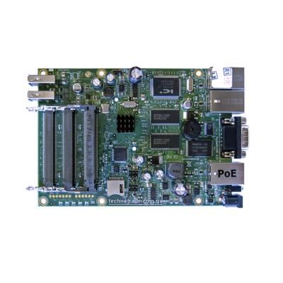 RB433UAH : RouterOS LV 5, CPU 680MHz Ram 128MB, 1Serial Port, 3MiniPCI slots, 2 USB