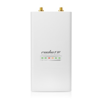 Ubiquiti rocket M2-ANT5 airMAX Indoor/Outdoor AP, Freq 2.4GHz 150+Mbps, Omni Ant 5dBi 2x2 MIMO, Hi-Power 28dBm, 1-Port 10/100 Ethernet