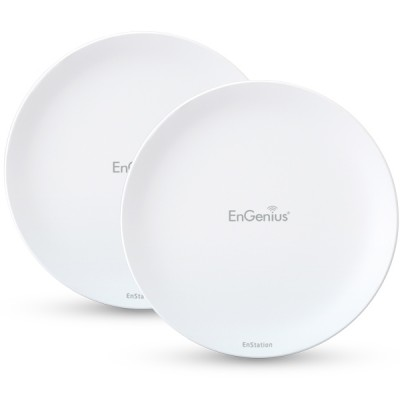 EnGenius EnStation5-AC-SET Point-to-point 2 Km. EnTurbo Outdoor Long-Rang 11ac Wave 2 Access Point/Client Bride, Speed 867Mbps 5GHz, 19dBi High-Gain Antennas