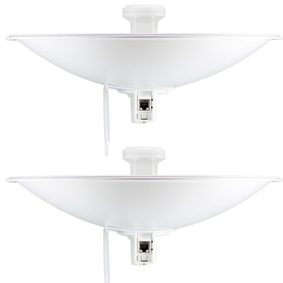 Ubiquiti PBE-M5-400-SET Point-to-point WiFi Link 5-10Km. airMAX Dish Reflector 25dBi 400mm, Freq 5GHz 150+Mbps, Hi-Power 26dBm, Configuration ready