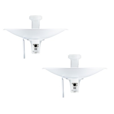 Ubiquiti PBE-M5-300-SET Point-to-point WiFi Link 1-5Km airMAX Dish Reflector 22dBi 300mm, Freq 5GHz 150+Mbps, Hi-Power 26dBm, Configuration ready