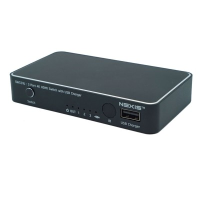 NEXiS SW531U 3X1 HDMI2.0 SWITCH WITH USB CHARGE
