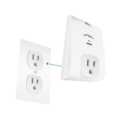 Ubiquiti mPower-Mini : mFi Controllable Power Outlets Mini, Single-port outlet, Wi-Fi 802.11b/g/n, Mangenment Monitoring Power