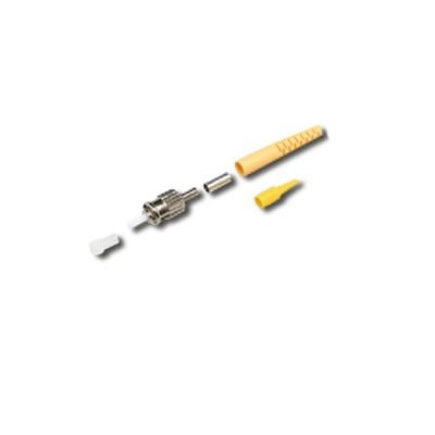 Link UF-0004SM ST Singlemode, Zirconia Fiber Optic Connector, Yellow Boot 0.9 mm, 3.0 mm diameter Cable