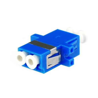 Link UF-0022DSM LC Duplex Fiber Optic Adapter, Single-mode Coupling, Ceramic Sleeve, PC Housing