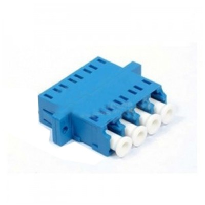 Link UF-0022QSM LC Fiber Optic Quad Adapter, Single-mode Coupling, Ceramic Sleeve, PC Housing