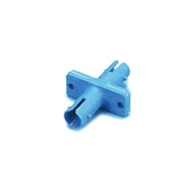 Link UF-0044SQ ST Fiber Optic Adapter, Single-mode Coupling, Flange Type, Ceramic Sleeve, Blue Housing