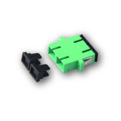 Link UF-0066SM/APC SC/APC Fiber Optic Duplex Adapter, Single-mode, Ceramic Sleeve, PBT Housing