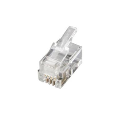 Link UL-3004 HS (Hand Set, RJ9) PLUG (ตัวผู้โทรศัพท์ 4 ขา) บรรจุ 100 ตัว/ถุง