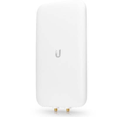 Ubiquiti UMA-D UniFi Antenna Directional Dual-Band 802.11ac, RF Connections (2) RP-SMA, Gain 10dBi (2.4GHz) & 15dBi (5GHz), Outdoor UV Stabilized Plastic